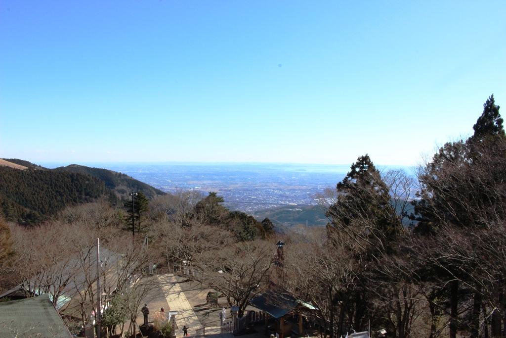 境内から南東を見た景色。