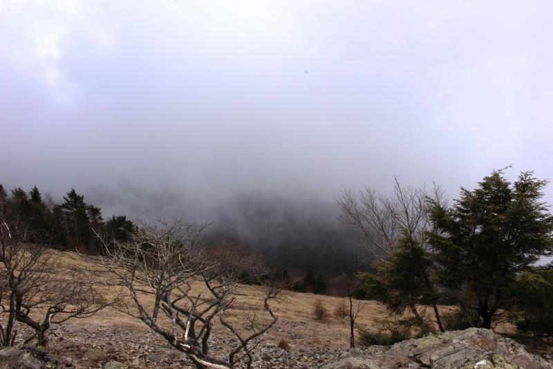 雷岩付近の様子