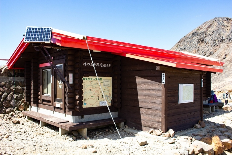 峠の茶屋跡避難小屋