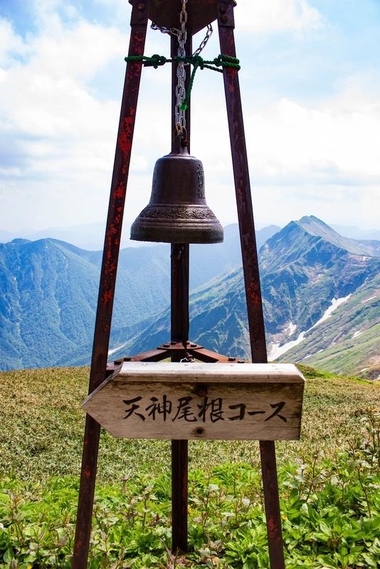 肩ノ小屋に設置されていた鐘。