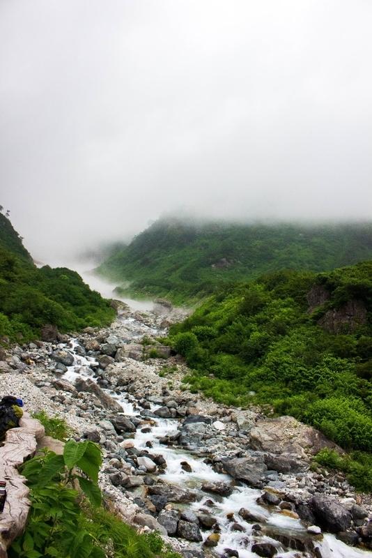 大雪渓の方向の眺め