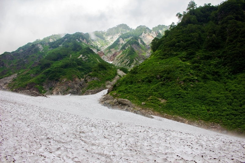 大雪渓の眺め2