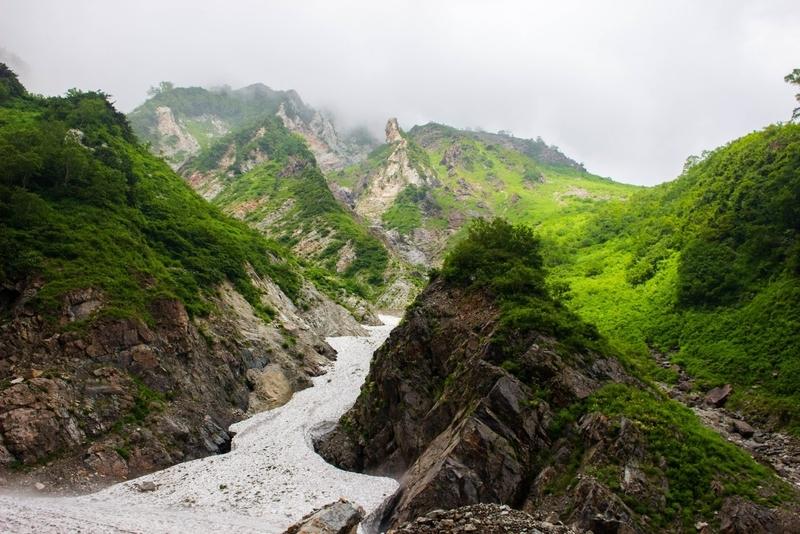 雪渓の眺め3