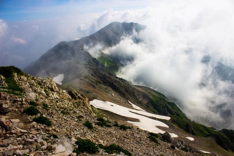 稜線の景色