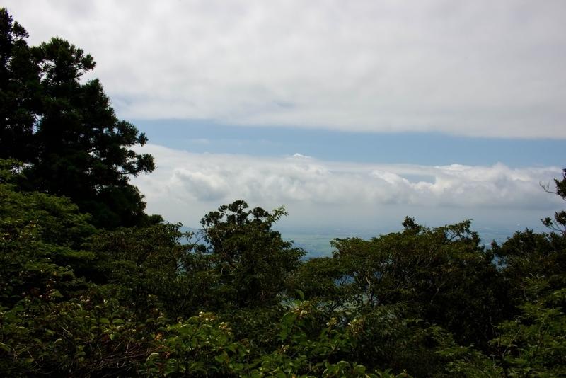 巨岩の上からの眺め