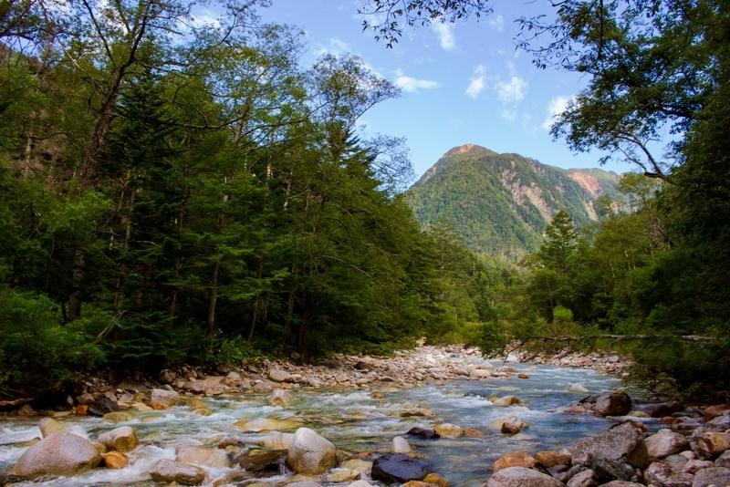 槍見河原からの風景