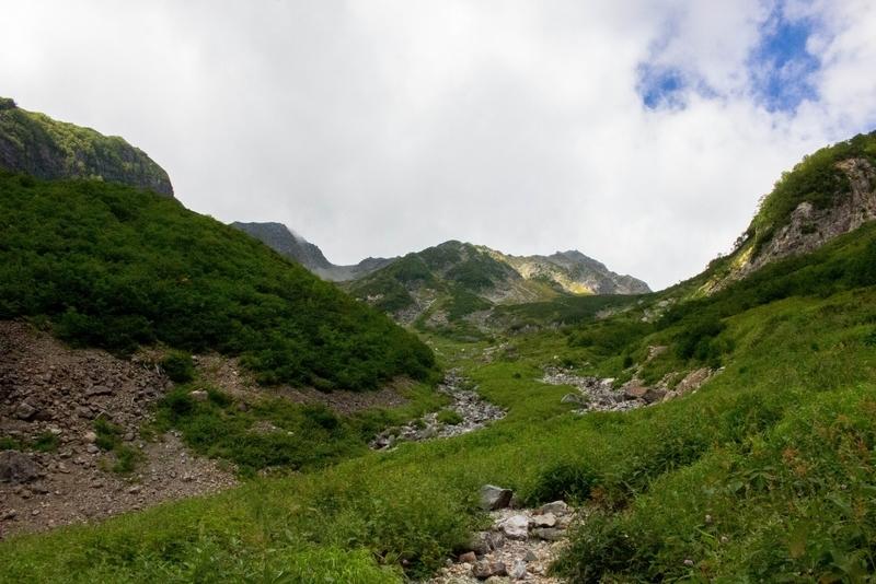 山頂方向の眺め
