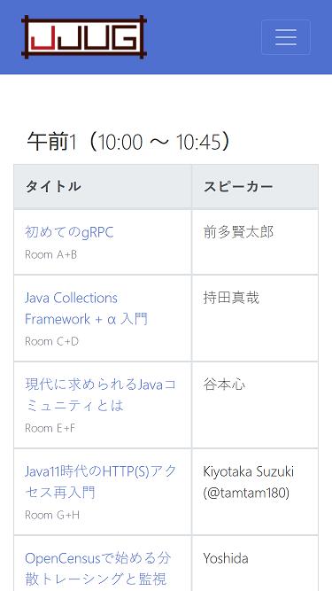 http://yujisoftware.github.io/jjug-ccc/2019spring/#/timetable