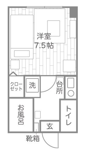 部屋の間取り図