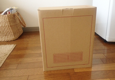 無印良品のヒーターを箱に入れたところ