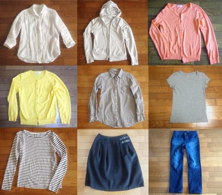 今週着た9枚の服