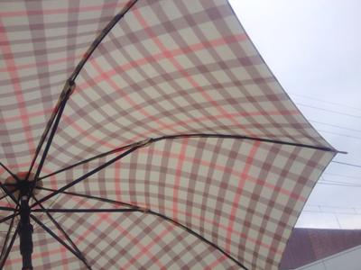 チェック柄の傘