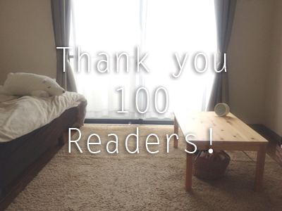 Thank you 100 Readers!