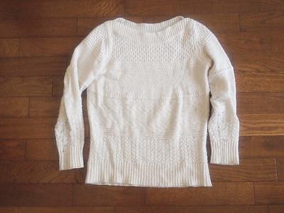 白いセーター