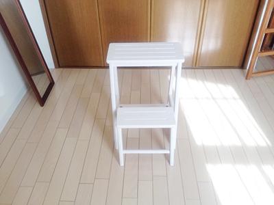 白い踏み台