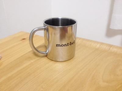 モンベルのステンレスマグカップ