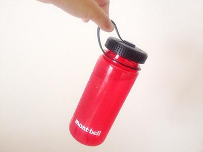 モンベルのクリアボトル