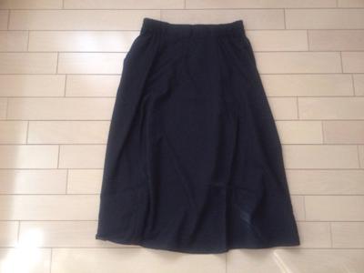 f紺色スカート