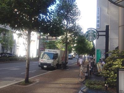 スタバ京都烏丸六角店 入り口