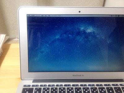 MacBookAir ブルーライトカットフィルム貼る前