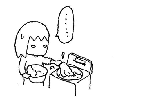 洗濯機から洗濯物を取り出すイラスト