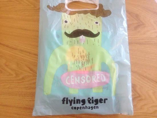 フライングタイガー コペンハーゲンの袋