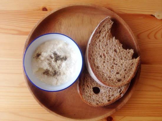 とうふディップとパン