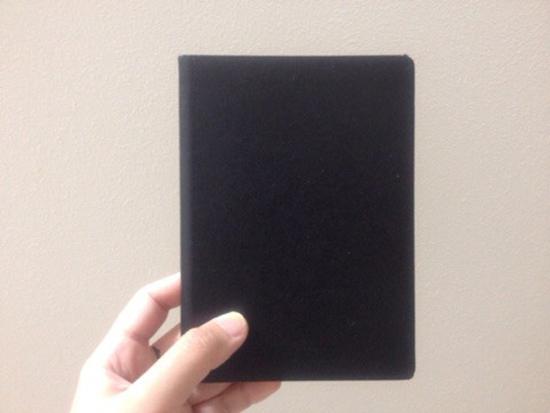 無印良品の黒いノート