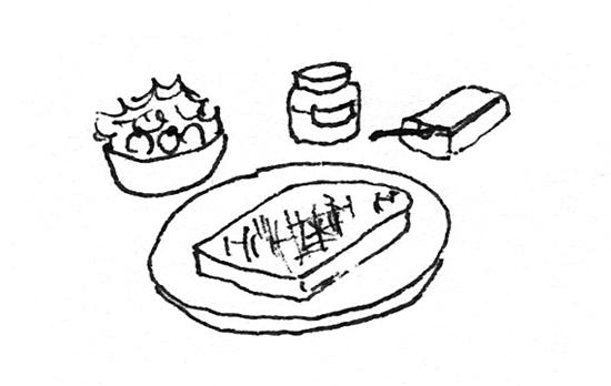 朝ごはん トースト イラスト