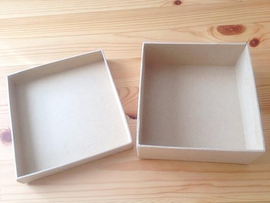 ダイソーのクラフトボックス 紙 箱