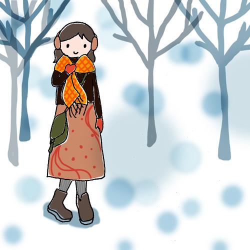 $手帖と暮らす日々。 ー chihiro illustration and diary-130107_woman