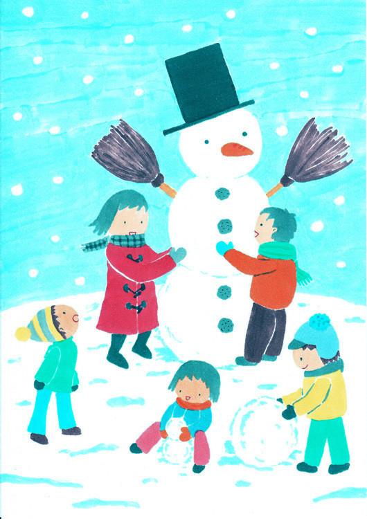 $手帖と暮らす日々。 ー chihiro illustration and diary-13pic_003_snowman