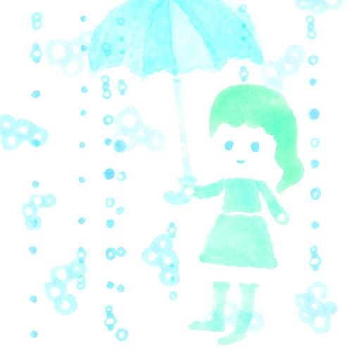 $ゆるかわイラスト工房 chihiro-13pic_013_rain
