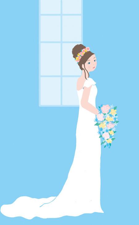 $ゆるかわイラスト工房 chihiro-12pic_031_woman_weddingdress