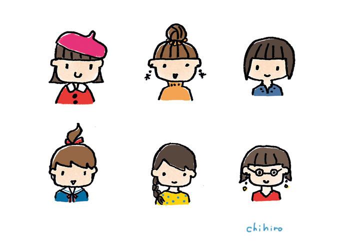 $ゆるかわイラスト工房 chihiro-12pic_003_sixgirls
