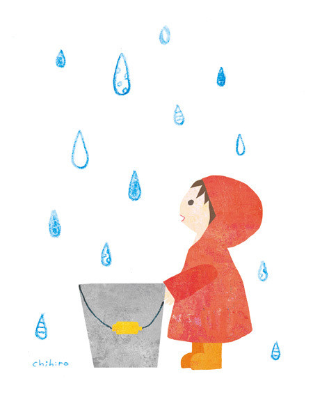 $ゆるかわイラスト工房 chihiro-12pic_026_rain_baketsu