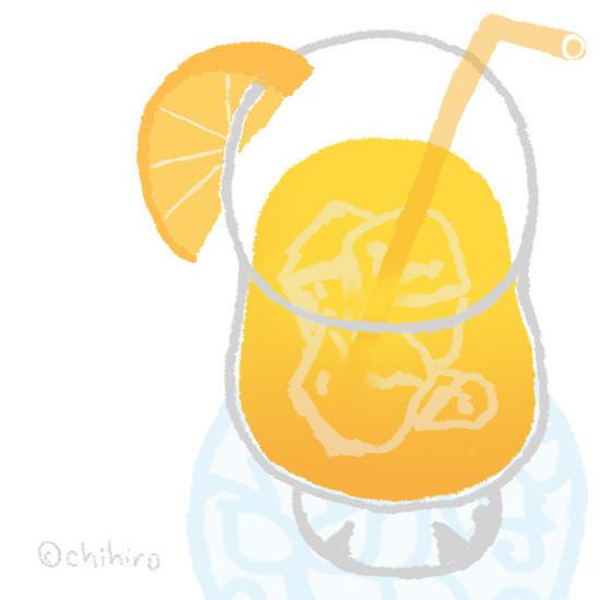 $ゆるくてかわいい。ゆるかわイラスト工房chihiro-130609_orangejuice