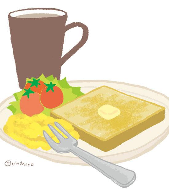 $ゆるくてかわいい。ゆるかわイラスト工房chihiro-130609_toast.