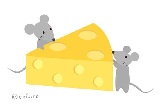 $ゆるくてかわいい。ゆるかわイラスト工房chihiro-130618_cheese_s