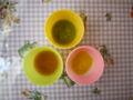 [離乳食]かぼちゃとさつまいもがゆ、5種の緑黄色野菜、にんじんとポテト、バ