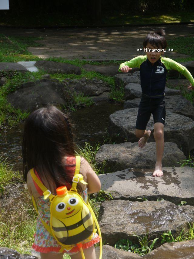 ひろ6歳、あや3歳、ふるさと公園