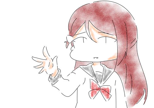 桜内梨子手を伸ばす