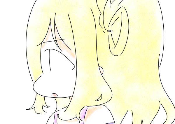 小原鞠莉真面目な横顔