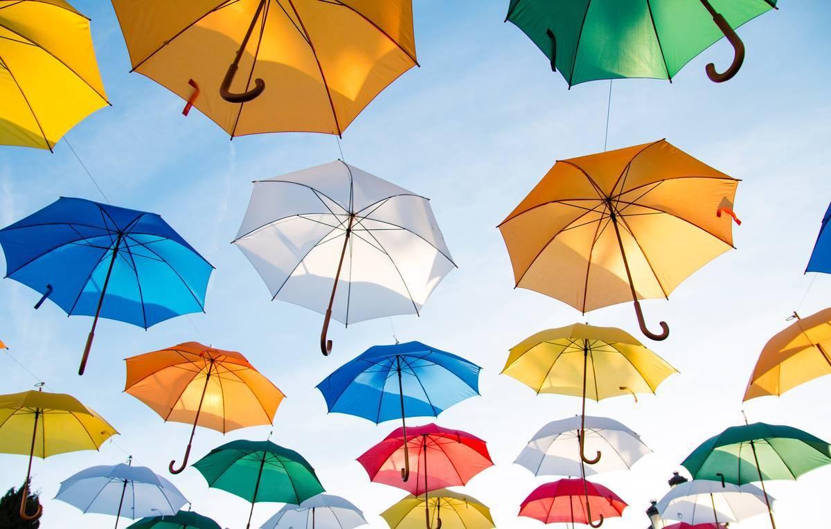 傘を持っていくのを忘れないでね!
