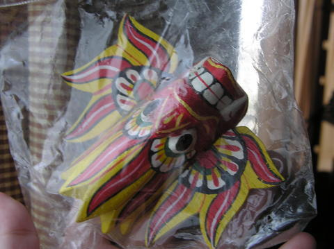 スリランカの仮面(ミニチュア)名称不明