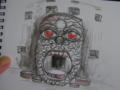 ラオスのブッダパークにある石像。口が入り口になってるらしい。
