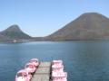 [榛名湖]左が烏帽子岳・右が榛名富士