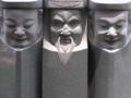 旧水戸街道一里塚にある助さん格さんご老公の像