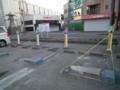 [塩釜][津波]駅前の駐車場は電気が来てない。