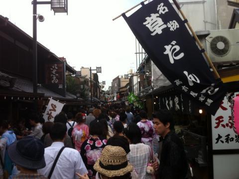 納涼花火大会2011.7.26/帝釈天参道